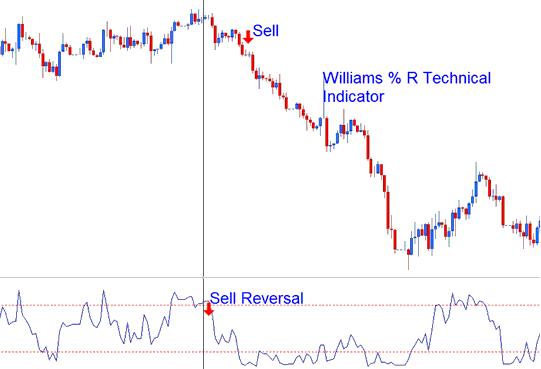 Bearish Reversal Indices Signal - Williams Percent Range Indicator