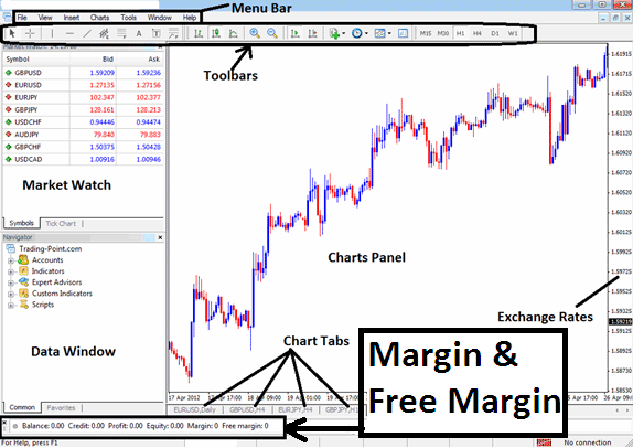 Margin and Free Stock Indices Trading Margin is displayed by the MetaTrader 4 Indices Platform