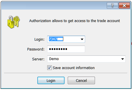 MT4 Indices Trading Platform Login Username and Password as Shown Below - Indices MetaTrader Account