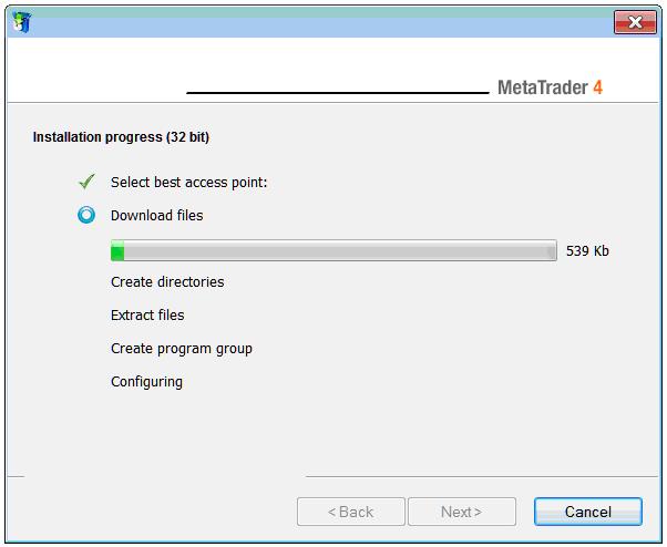 MetaTrader 4 Installation on Windows 2008 Operating System - MT4 Platform Download - MetaTrader 4 Install Software Guide