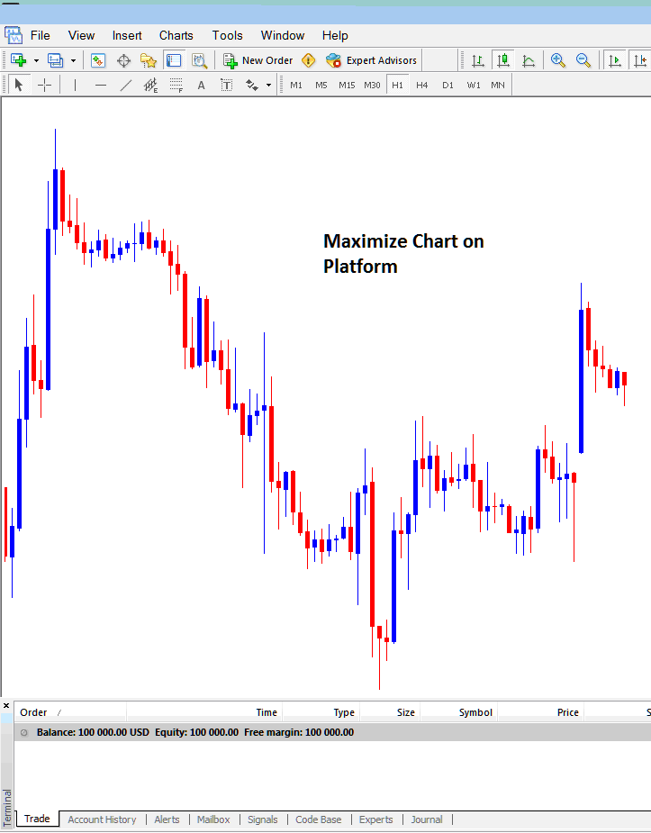 How to Maximize Indices Chart on MT4 Workspace - MT4 Live Charts Indices Trading