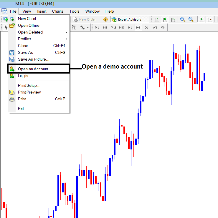 How to Open a New Demo Account From MetaTrader Indices Trading Platform - MT4 Demo Account