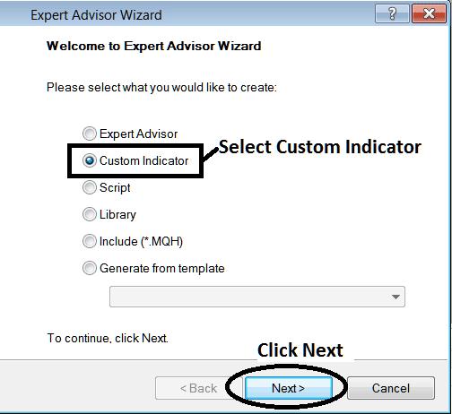 MT4 Window for Adding Custom Indicator - How to Add MetaTrader 4 Custom Indicators - Indices MT4 Command Line MetaEditor