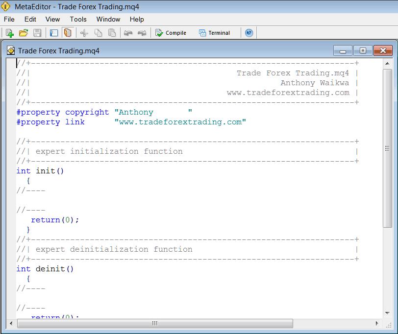 MetaEditor Programming For Expert Advisor on MT4 Platform