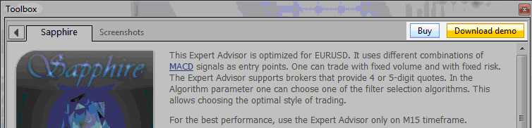 Example of how to get a Stock Indices Expert advisor from the MT4 forum and MT5 forumMQL5 Market
