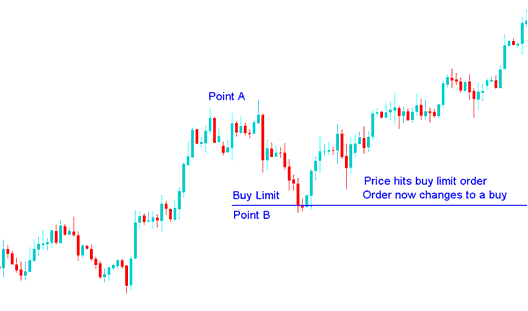 Indices Price Hits Buy Limit Indices Trading Order, Order Now Changes to a Buy