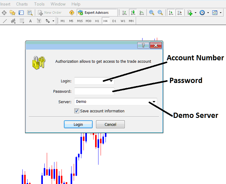 How to use demo account