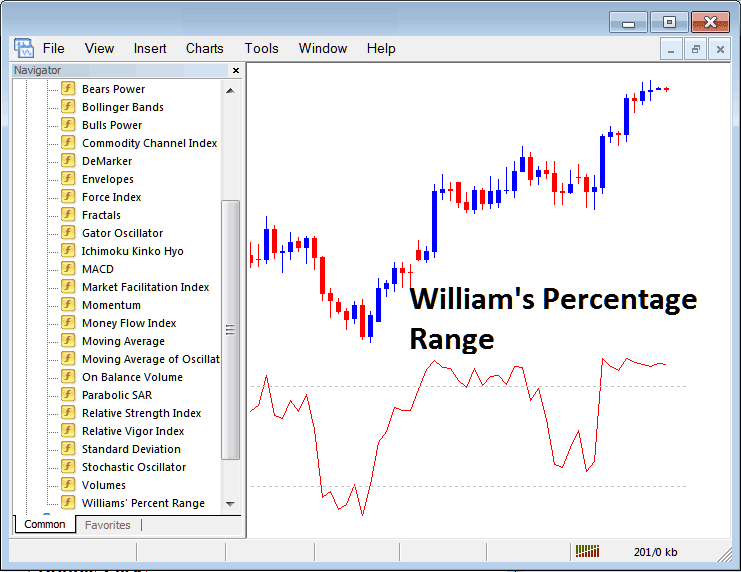 How to Trade Indices With Williams Percentage Range Indicator on MT4 Stock Index Trading Platform